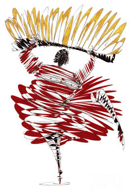 Dancer Drawing - Dancer by Justyna JBJart