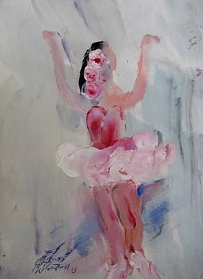 Dancers 134 Art Print by Edward Wolverton