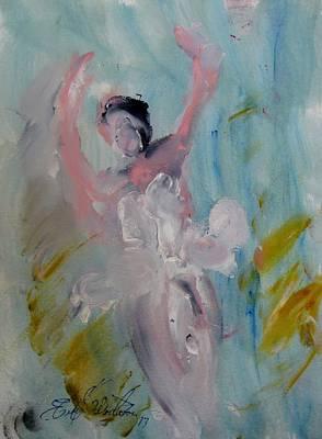 Dancers 140 Art Print by Edward Wolverton
