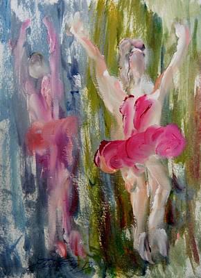 Dancers 145 Art Print by Edward Wolverton