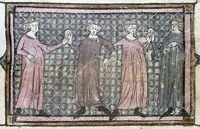 Chain-ring Painting - Dancers, 14th Century by Granger