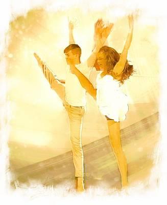 Digital Art - Dancers 3 by Carrie OBrien Sibley