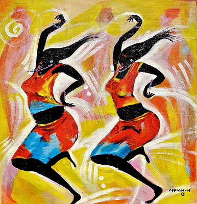 Painting - Dancers by Appiah Ntiaw