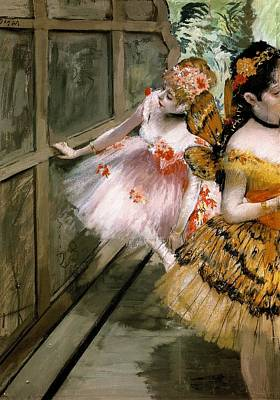Pasadena Painting - Dancers At The Backstage by Edgar Degas