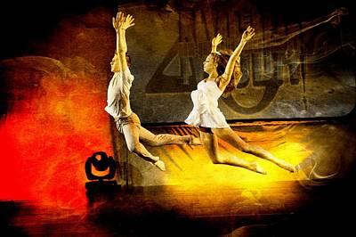 Digital Art - Dancers by Carrie OBrien Sibley