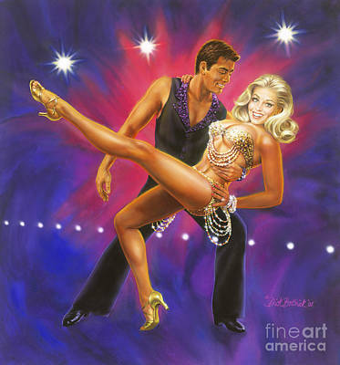 Ballroom Dancing Painting - Dancer's Fantasy by Dick Bobnick