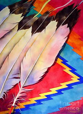 Indian Wall Art - Painting - Dancer's Feathers by Robert Hooper