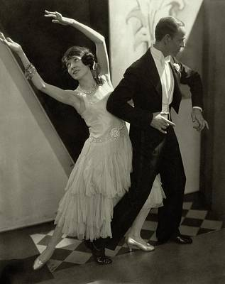 Night Photograph - Dancers Fred And Adele Astaire by Edward Steichen