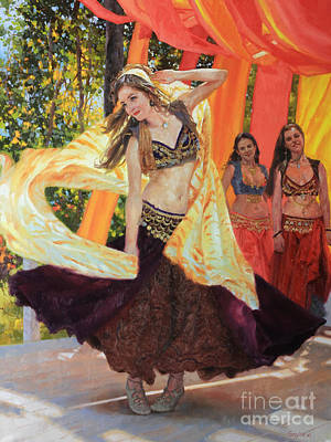 Dancers Print by Gary Kim