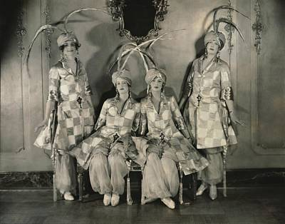 Four Sisters Photograph - Dancers In Persian Costumes by Edward Steichen