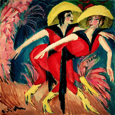 Dancers In Red Art Print by Ernst Ludwig Kirchner