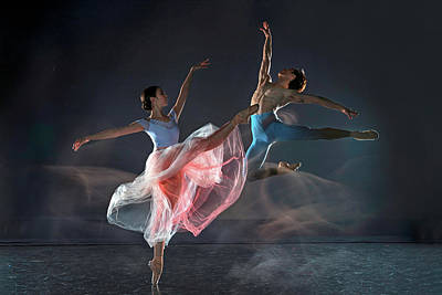 Acrobat Photograph - Dancers by Libby Zhang
