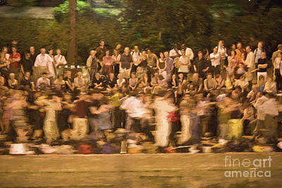 Bastille Day Celebration Photograph - Dancers On The Banks Of Seine by Avalon Fine Art Photography
