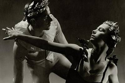 Photograph - Dancers Tamara Toumanova And Roman Jasinski by George Hoyningen-Huene