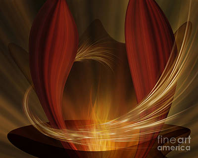 Digital Art - Dances With Fire by Johnny Hildingsson