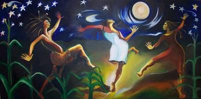 Dancin In The Moonlight Art Print by Joyce McEwen Crawford
