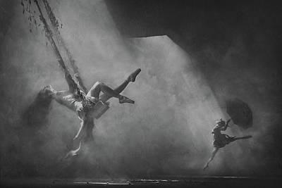 Swings Wall Art - Photograph - Dancing Above The Clouds by Sebastian Kisworo