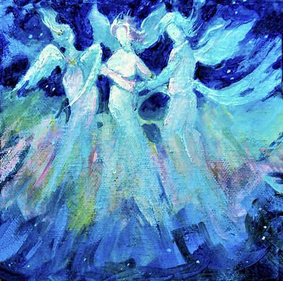 Painting - Dancing Angels by Diane Ursin