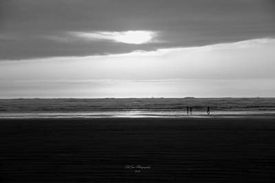 Photograph - Dancing At Sunset In Black And White by Jeanette C Landstrom