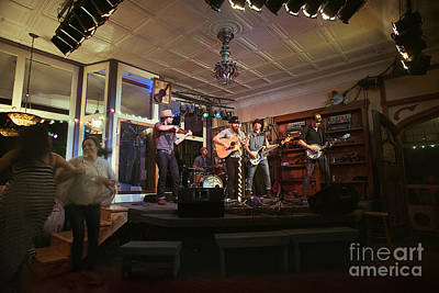 Dancing At The Purple Fiddle With Bryan Elijah Smith And The Wild Heart Band  Art Print by Dan Friend