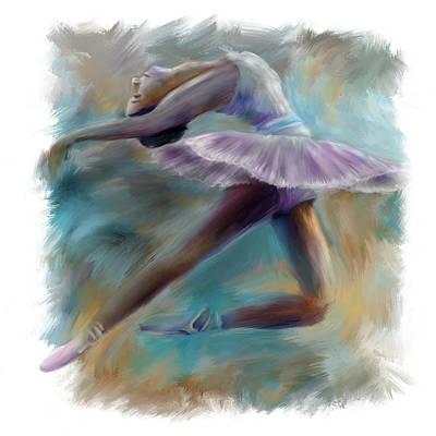 Dancing Ballerina Art Print by Bijan Studio