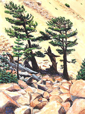 Painting - Dancing Bristlecone by Art By - Ti   Tolpo Bader