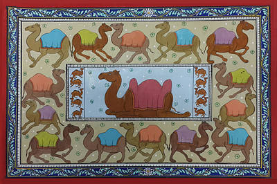 Painting - Dancing Camels by Art Tantra