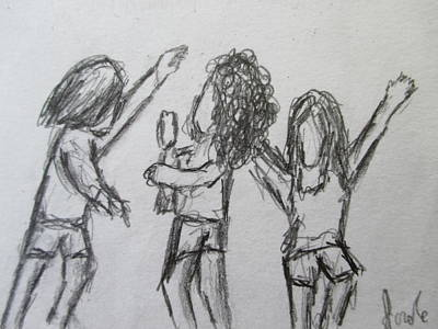 Drawing - Dancing Children by Steve Jorde