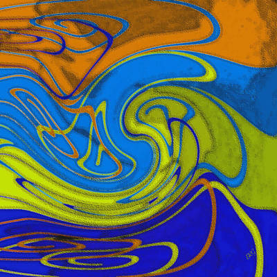 Digital Art - Dancing Colors No 2 by Ben and Raisa Gertsberg