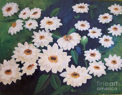 Dancing Dasies Art Print by Lucia Grilletto