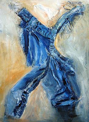 Painting - Dancing Denim by Roberta Rotunda
