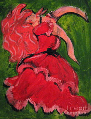 Art Print featuring the painting Dancing Doll by Wendy Coulson