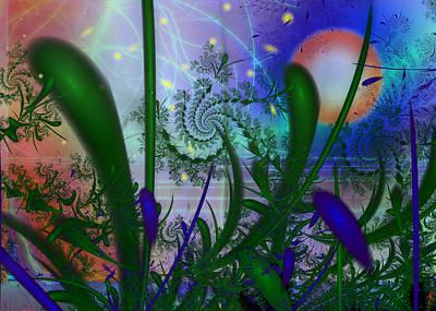 Dancing Fireflies Art Print by Faye Symons