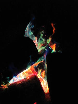 Photograph - Dancing Flames by Kerry Lapcevich
