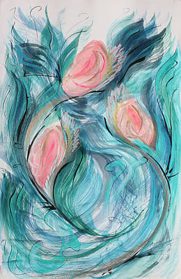 Painting - Dancing Flowers by Asha Carolyn Young