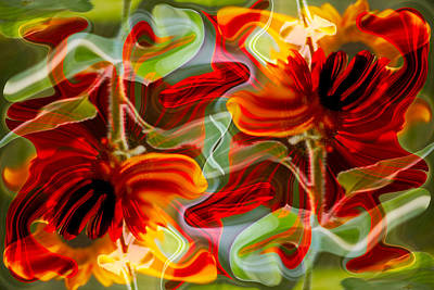 Impressionist Landscapes - Dancing Flowers by Omaste Witkowski