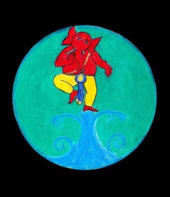 Dancing Ganesha 1 Art Print