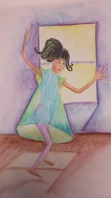 Painting - Dancing Girl by Cherie Sexsmith