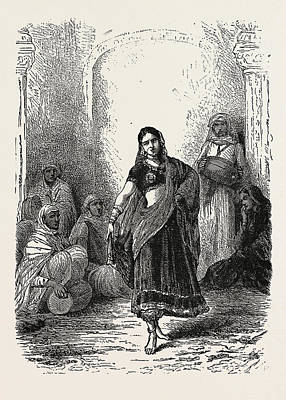 Dancing Girl Of Mewat Art Print