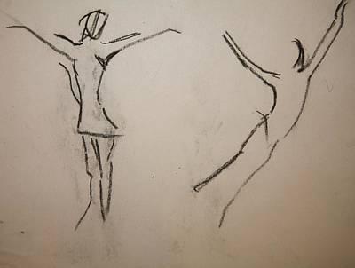 Dancing Girls Art Print by Elena Svobodina