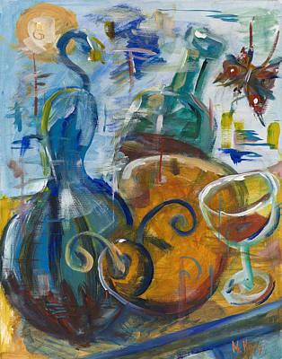 Dancing Gourds Art Print