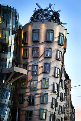 Praha Pyrography - Dancing House In Prague by Jelena Jovanovic