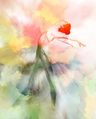Ballet Dancers Painting - Dancing In Paradise by Steve K