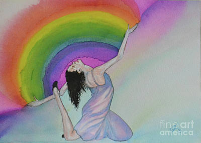 Painting - Dancing In Rainbows by Suzette Kallen