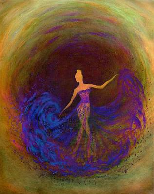 Woman Digital Art - Dancing In The Dark by Lilia D