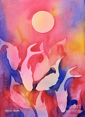 Painting - Dancing In The Moonlight by Shirin Shahram Badie