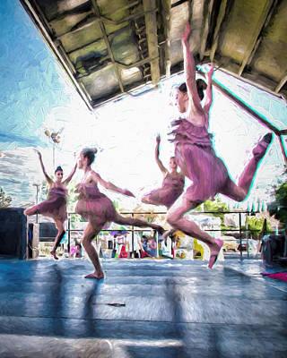 Dancing In The Park Art Print by Ike Krieger