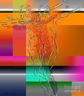 Lesbian Digital Art - Dancing In The Rain by Mark Ashkenazi