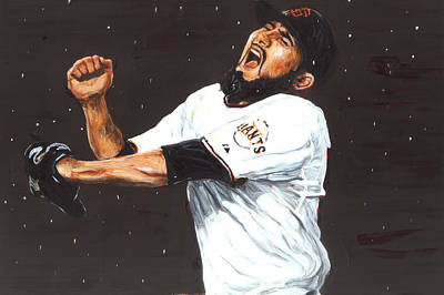 Sergio Romo Painting - Dancing In The Rain by Rudy Browne