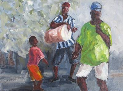 Dancing In The Street Eleuthera Art Print by Susan Richardson